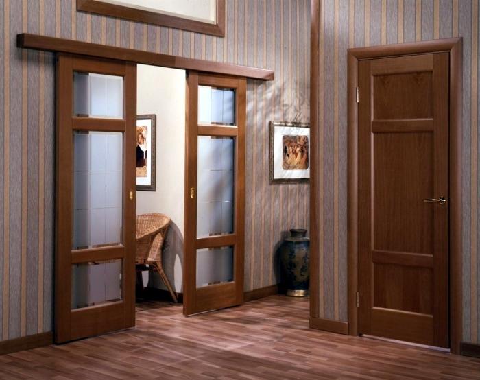 Двойные раздвижные межкомнатные двери своими руками